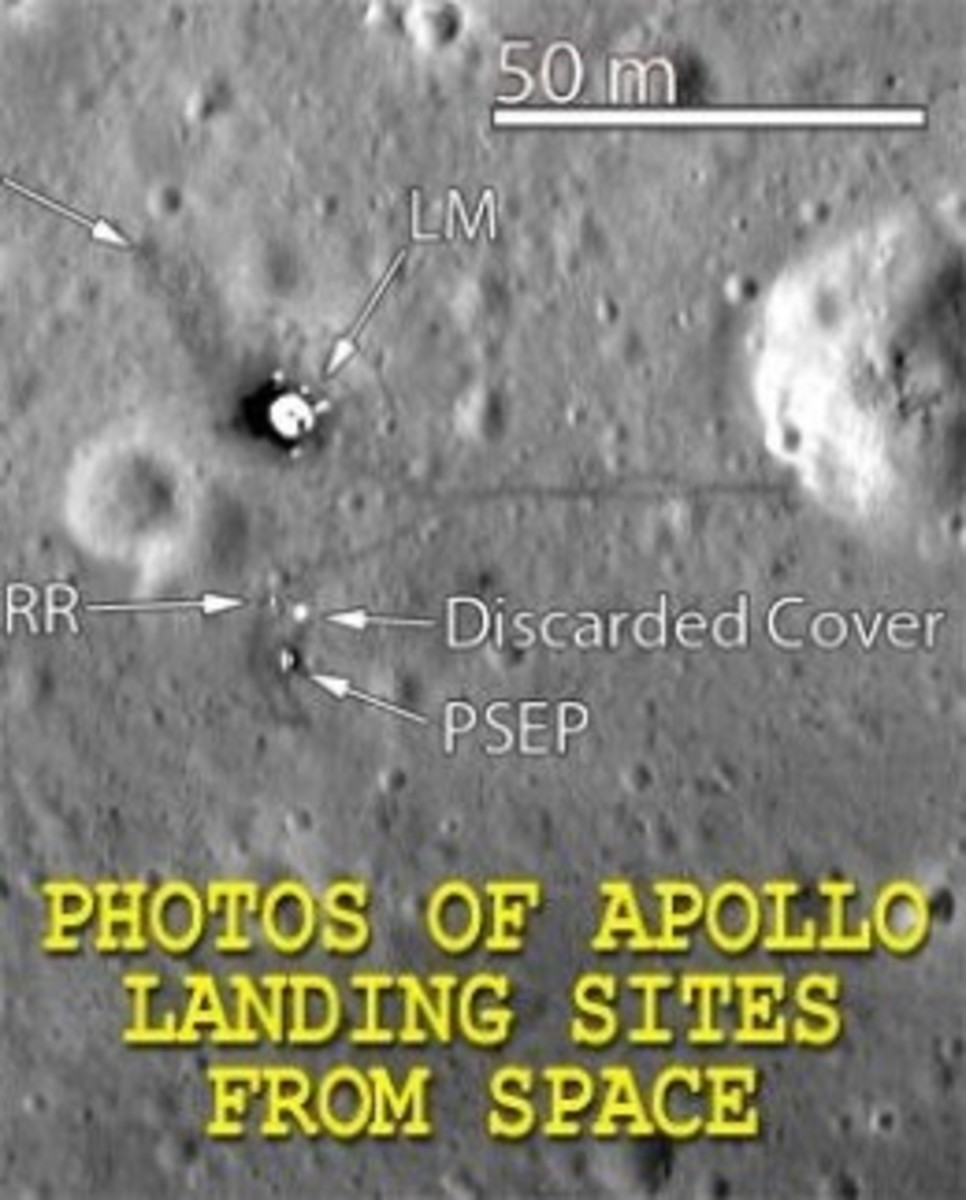 Photos of Apollo Moon Landing Sites From Space!