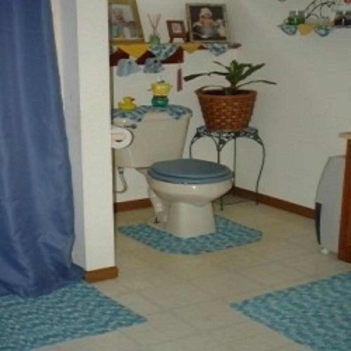 bathroom crochet