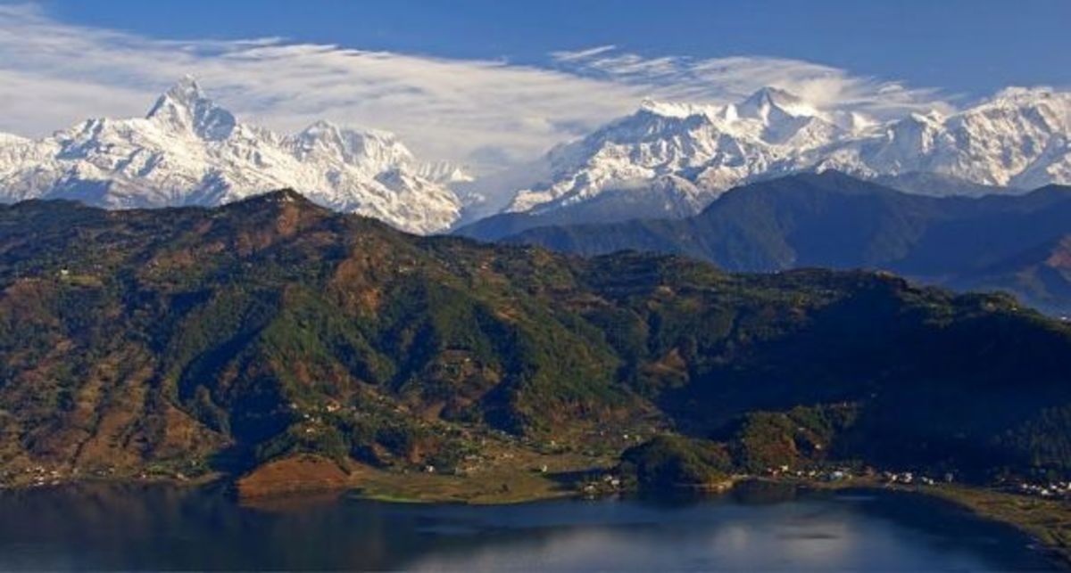 Anapurna Range as seen from Pokhara, Nepal