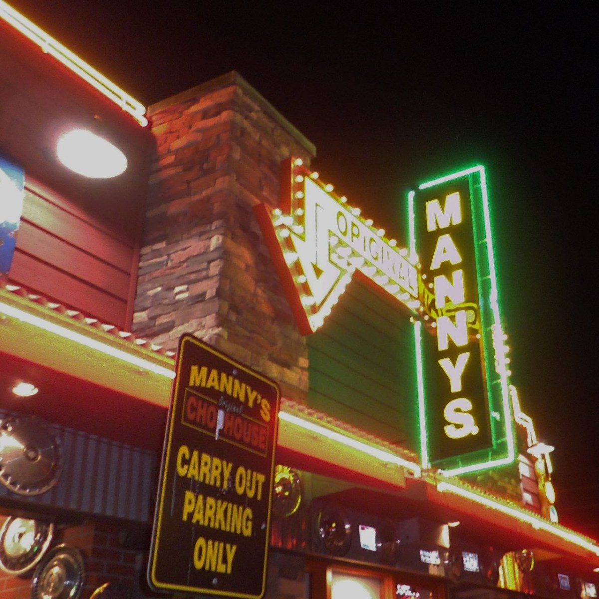 Exterior of Manny's Chop House