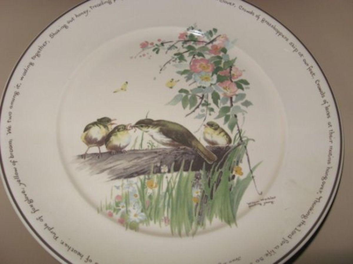 Round Platter - Willow Warbler