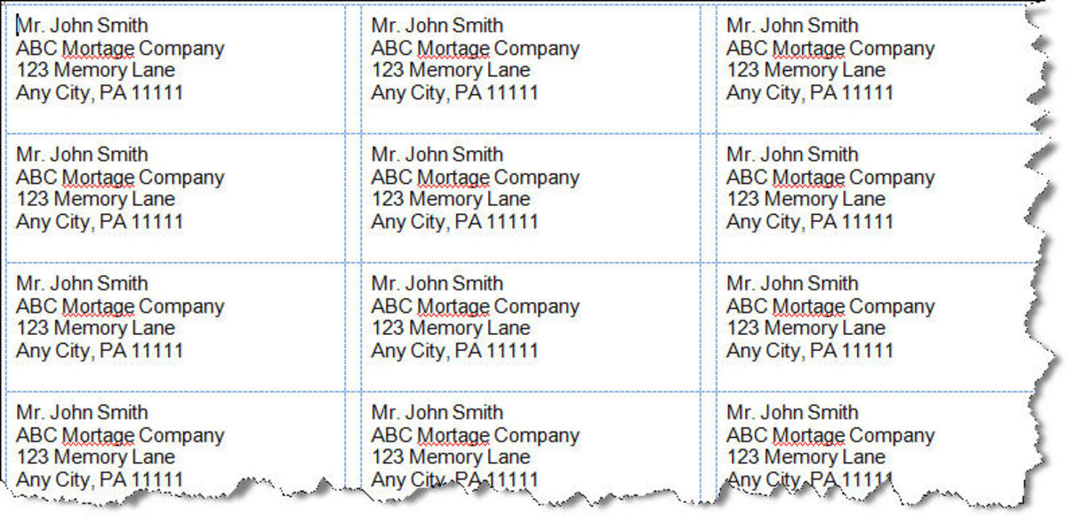 How to Setup MS Word 2007 Address Labels