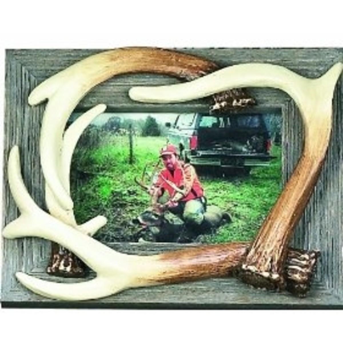 Barnwood Deer Antler Picture Frame