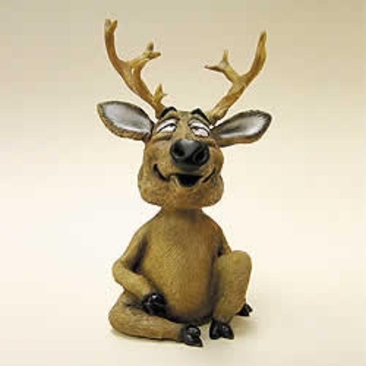 Mini Bobble Head Deer