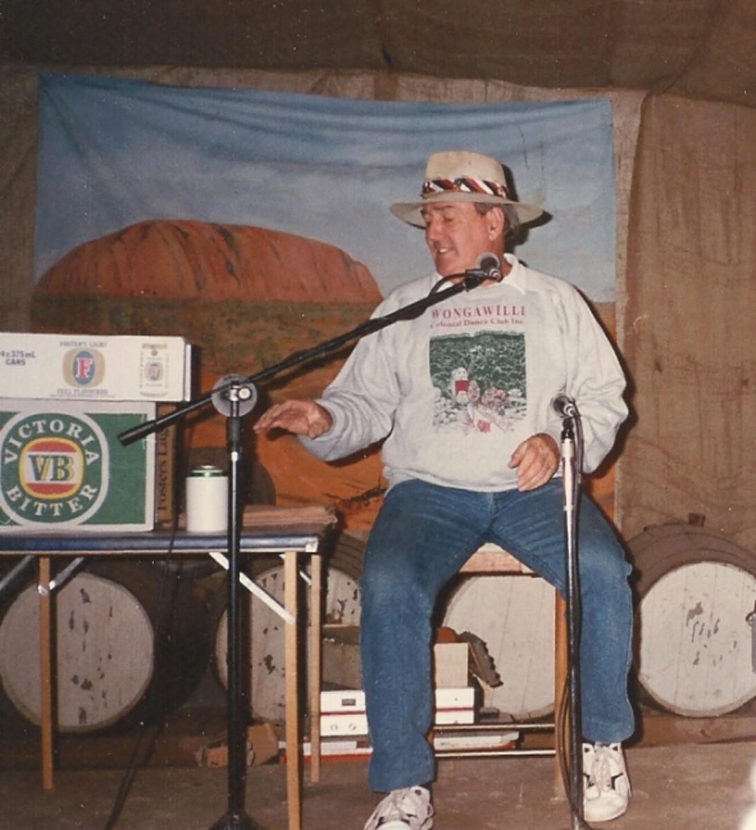 Ted Egan in Alice Springs Australia