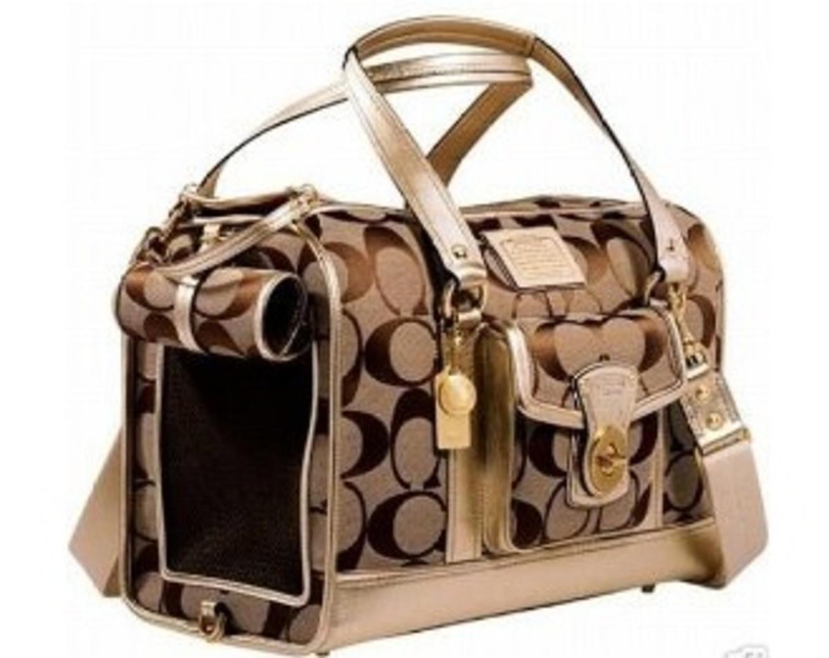 Very rare penelope op art coach dog carrier cat tote bag pristine
