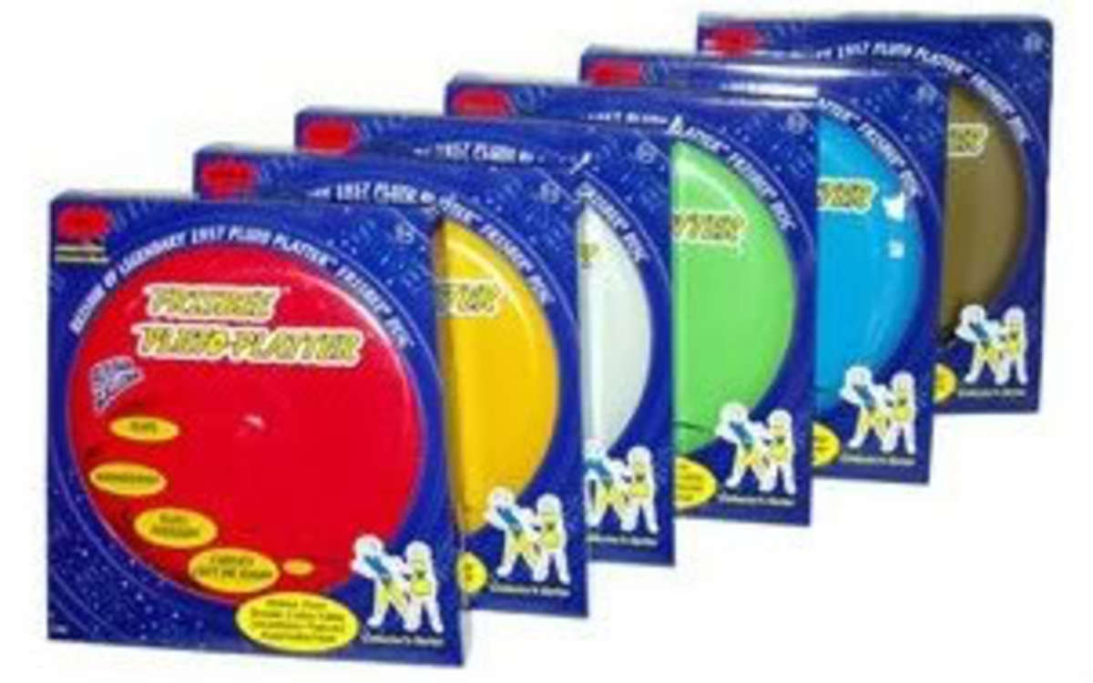 Reproduction Pluto Platter Frisbee Disc Set