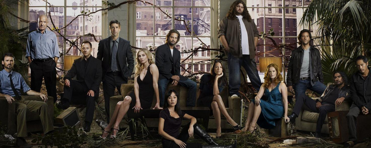 The cast of Lost in a promo