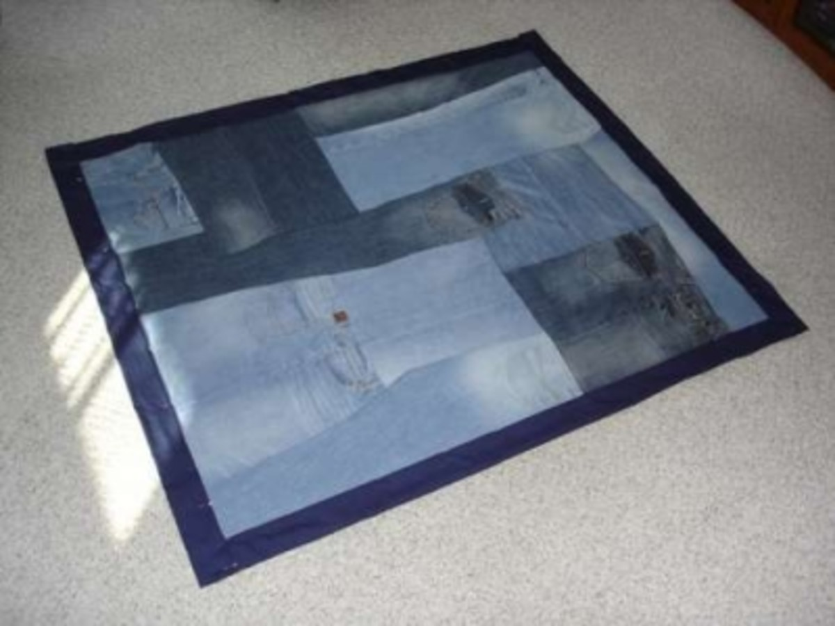 Recycled Denim Quilt Number 3 (Instructions above)