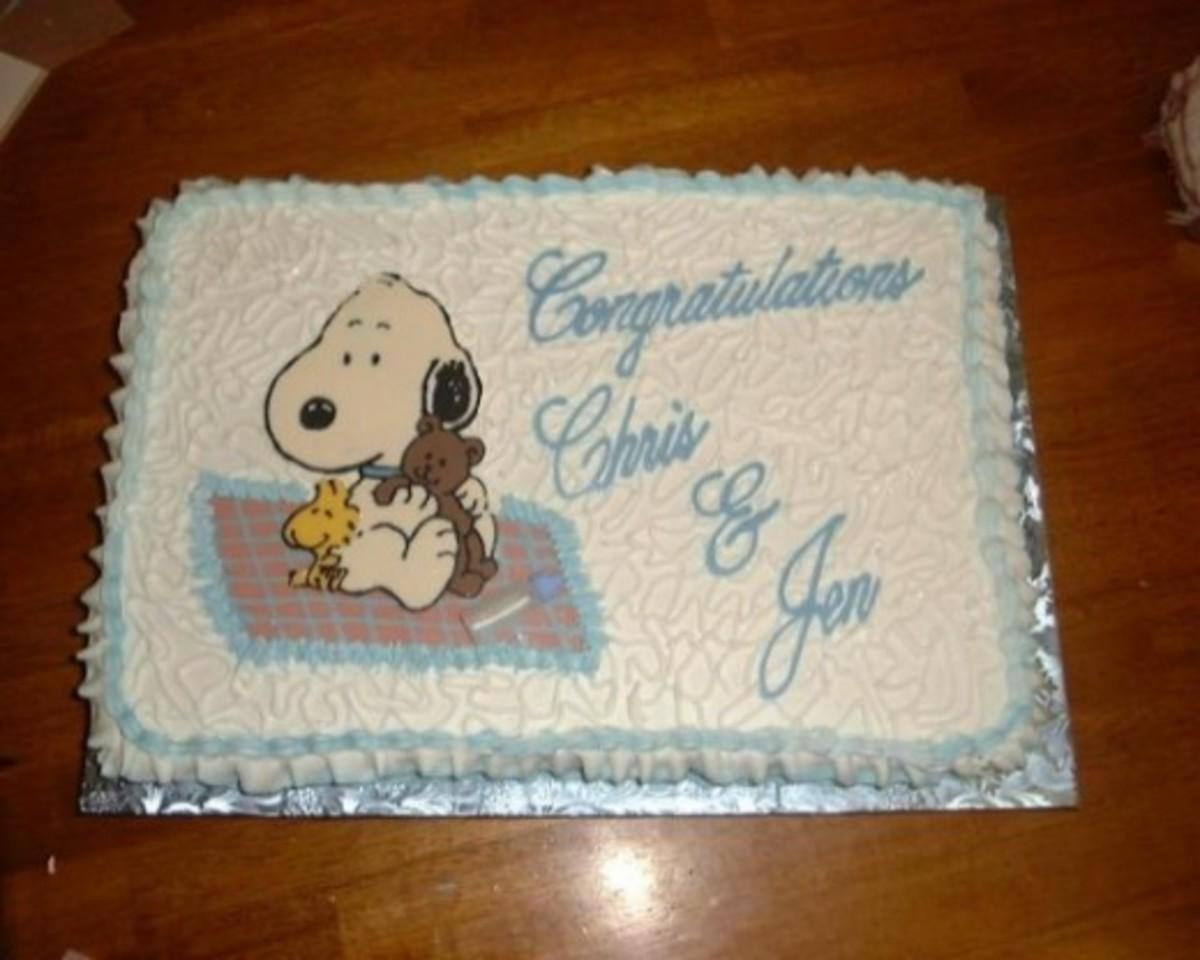 Baby Snoopy Cake