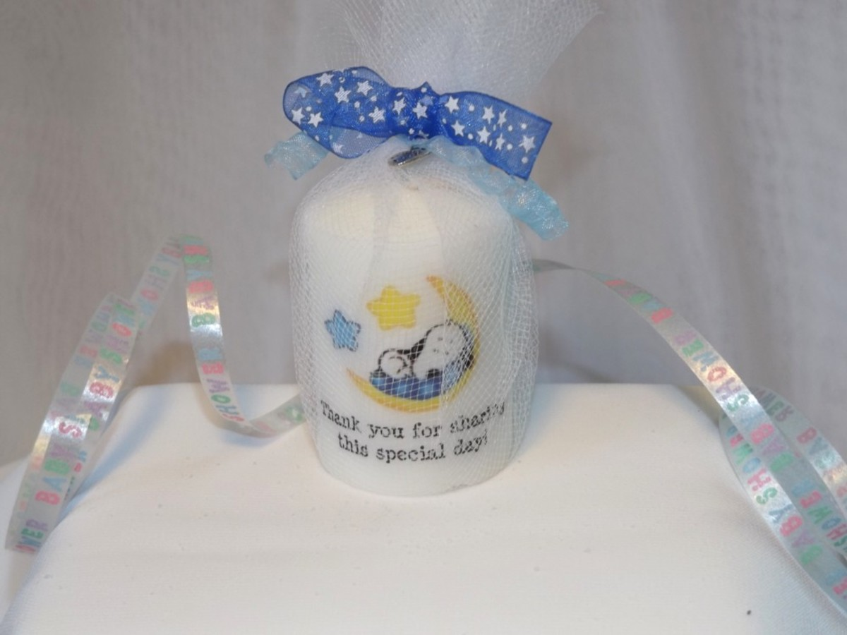 Baby Snoopy Candle Favor
