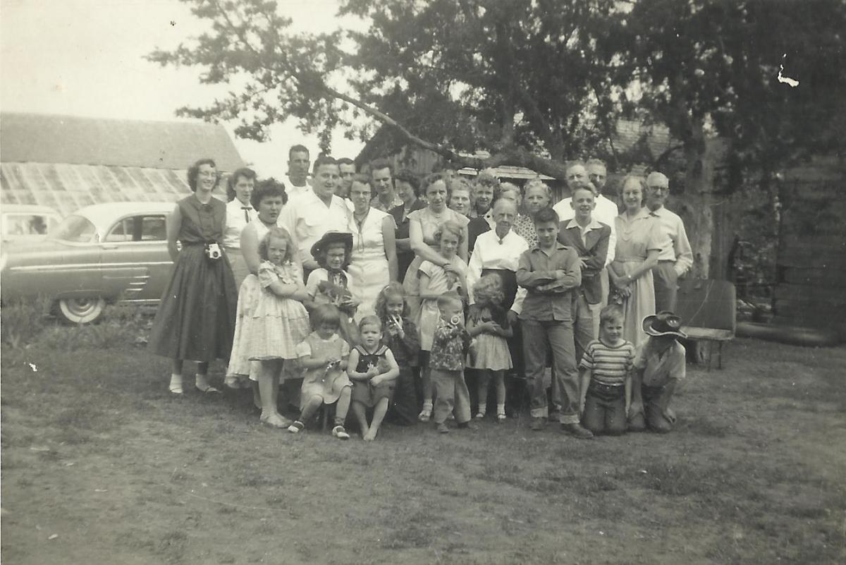 A 1950s gathering of my McGhee relatives.