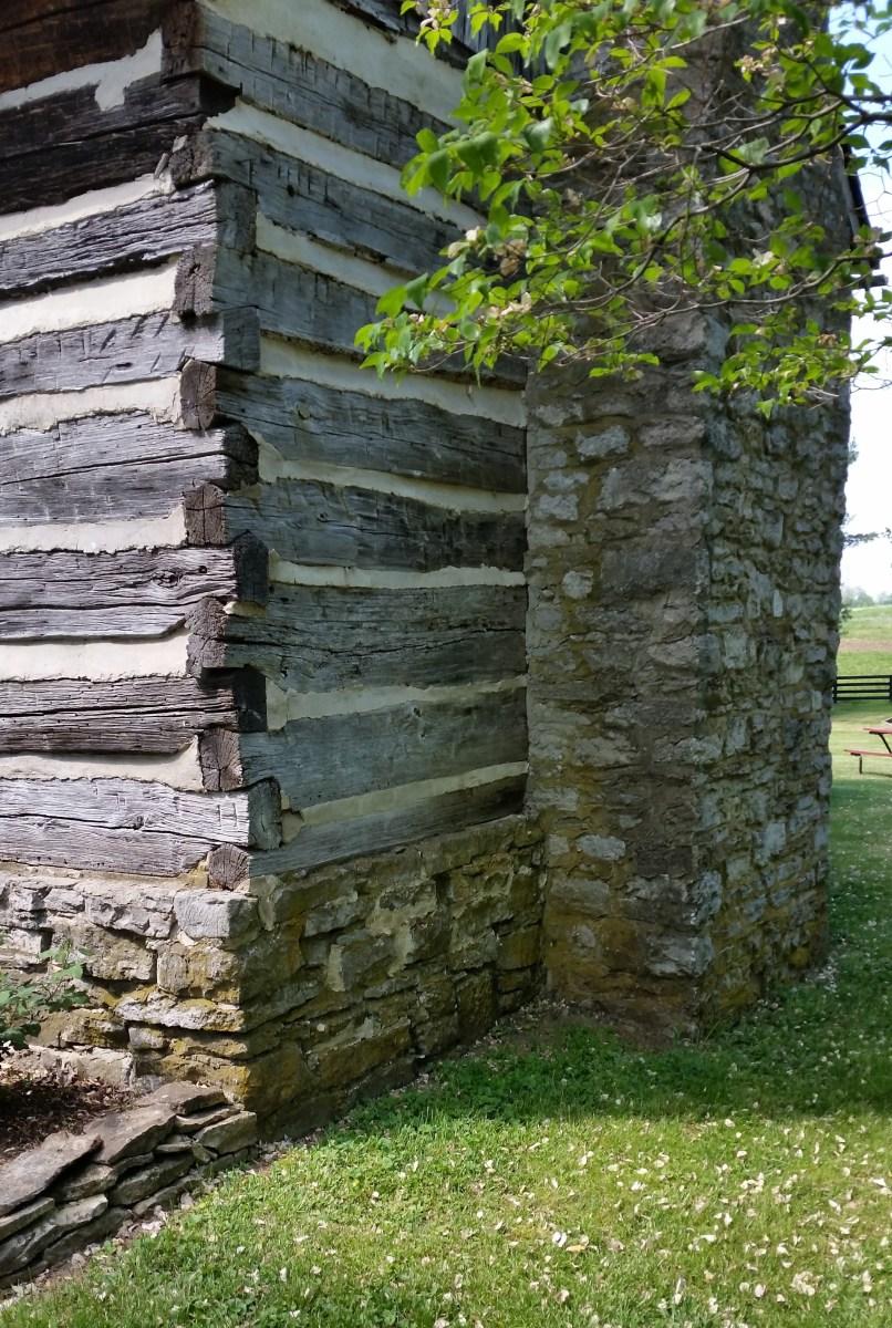 A log house in Kentucky.