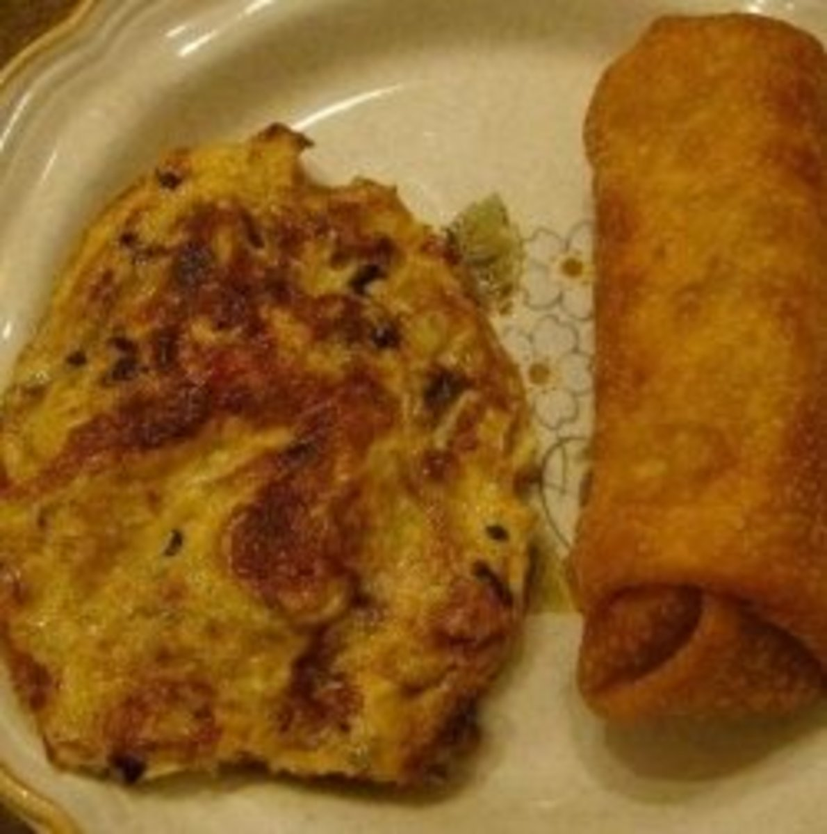 Egg Fu Yung and a Chinese egg roll
