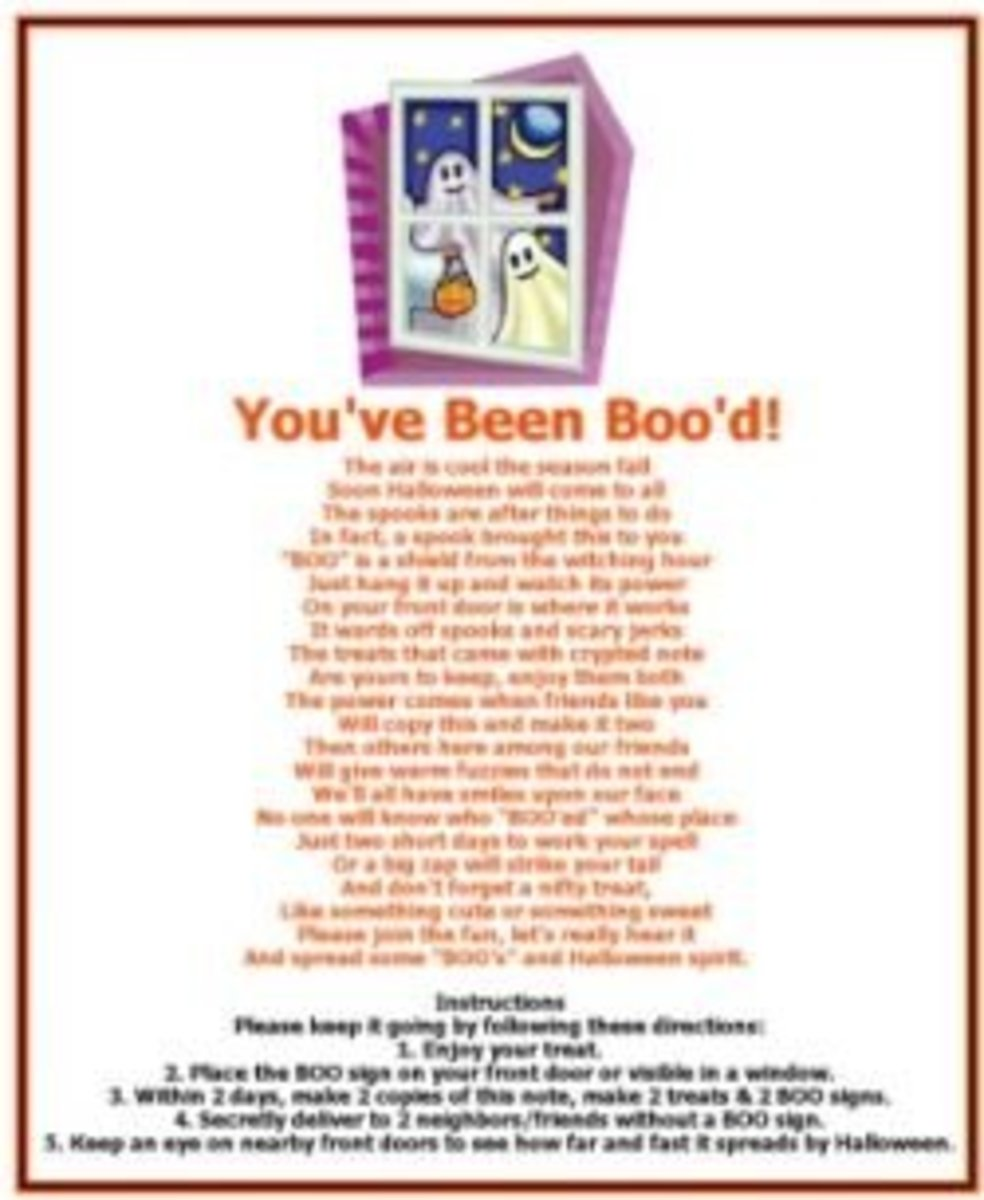 Get a Printable Halloween Boo Poem