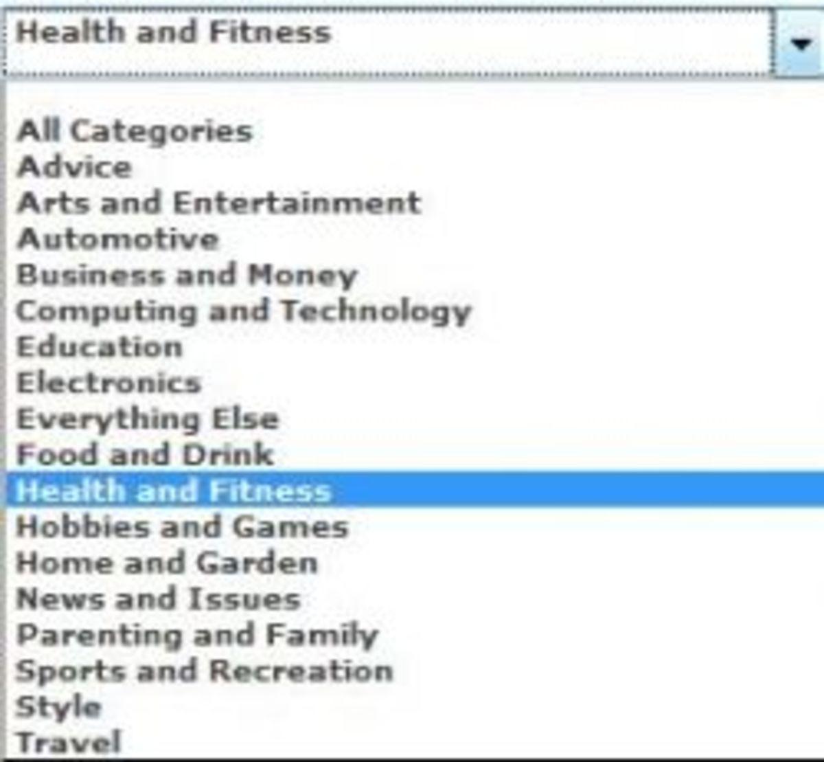 Weegy categories