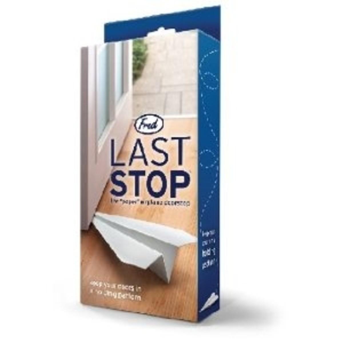 """Last Stop """"Paper"""" Airplane Novelty Doorstop"""