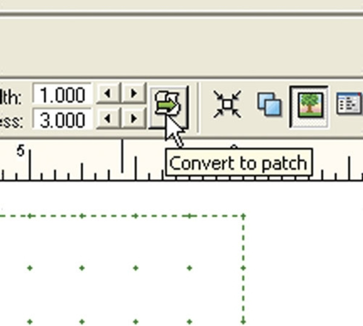 Convert strokes to patches