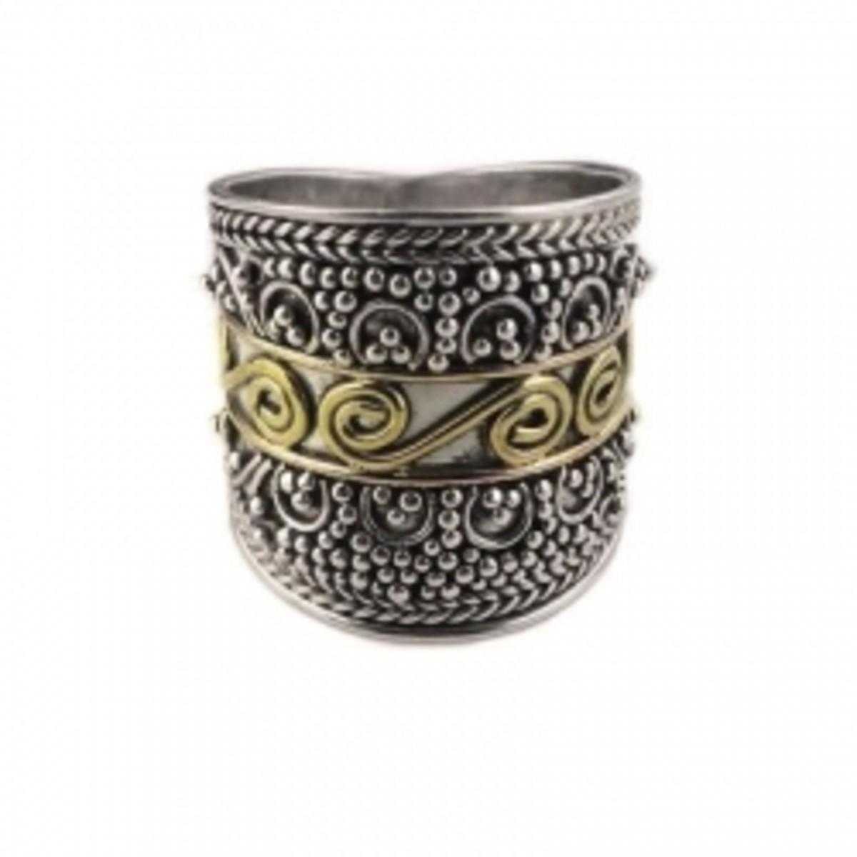 Beaded-Brass-Scroll-Armor-Ring