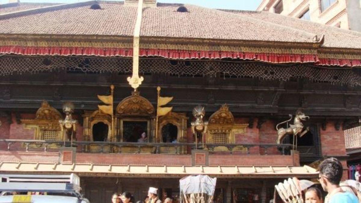 The Kumari in Kathmandu