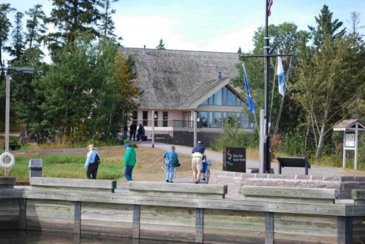 Rainy Lake Visitor Center for Voyageurs National Park.