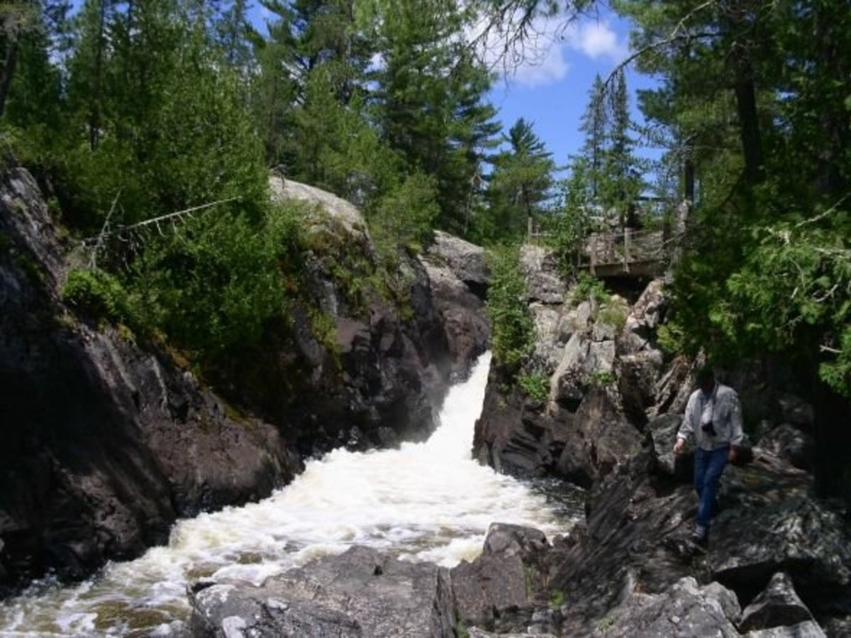 view of the high falls