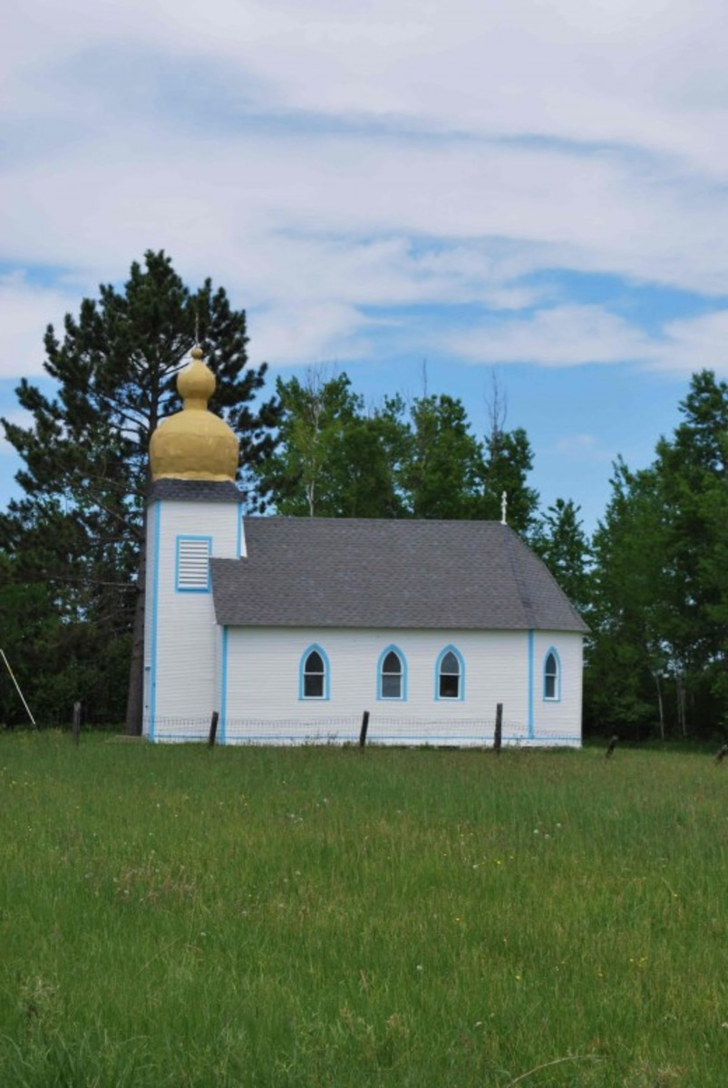 St. Peter and Paul Russian Orthodox Church at Bramble, MN,