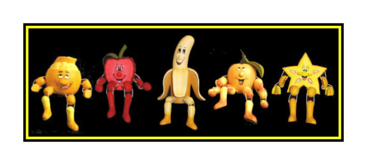 More fruity Woodkins figures