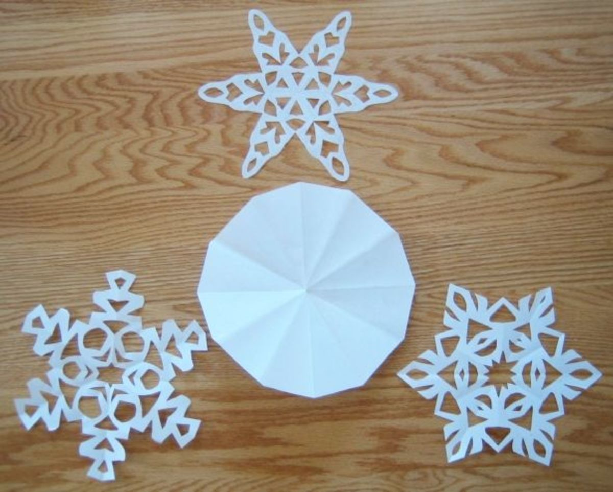 More paper snowflakes