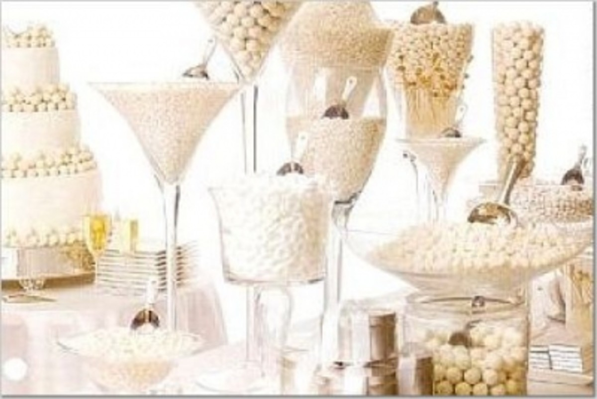 White Theme Candy Buffet