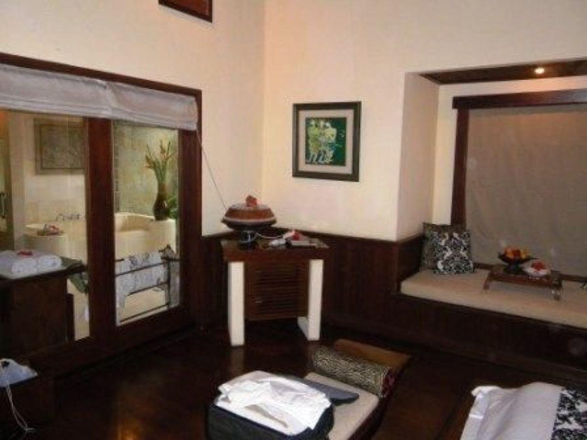 Bedrooom in a villa in Bali