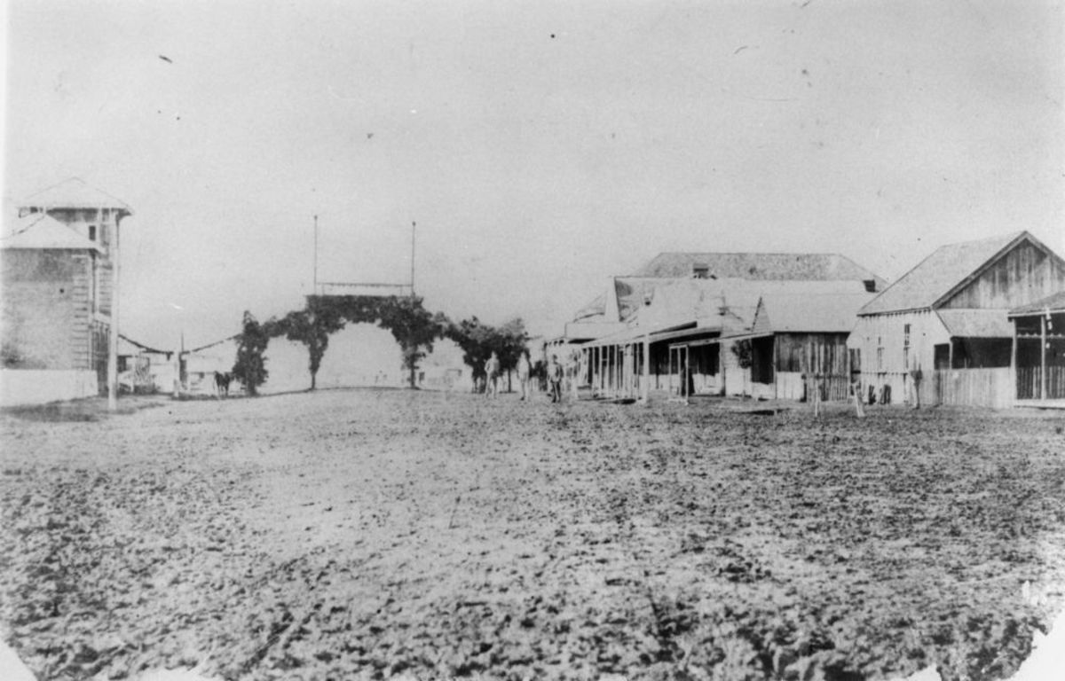 View of Cunningham st, Dalby, 1868
