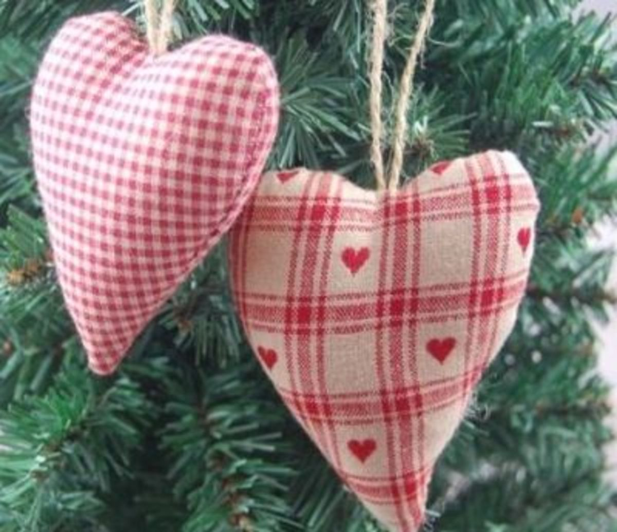 Gisela Graham Gingham Hearts