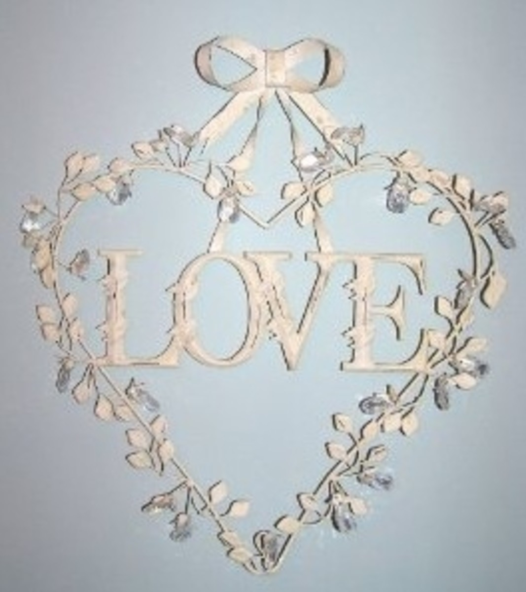 Shabby Chic Love Heart Wreath on Amazon