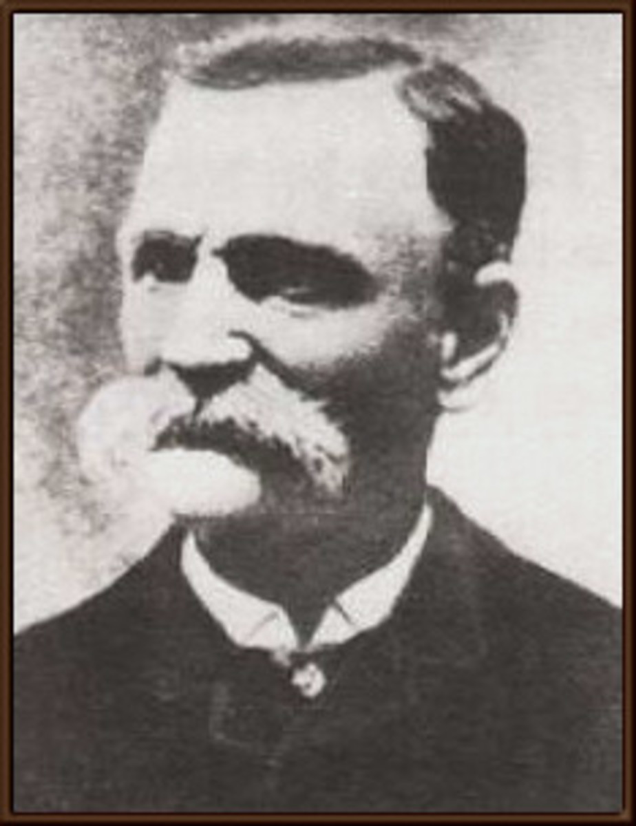 The infamous Black Bart - stagecoach robber
