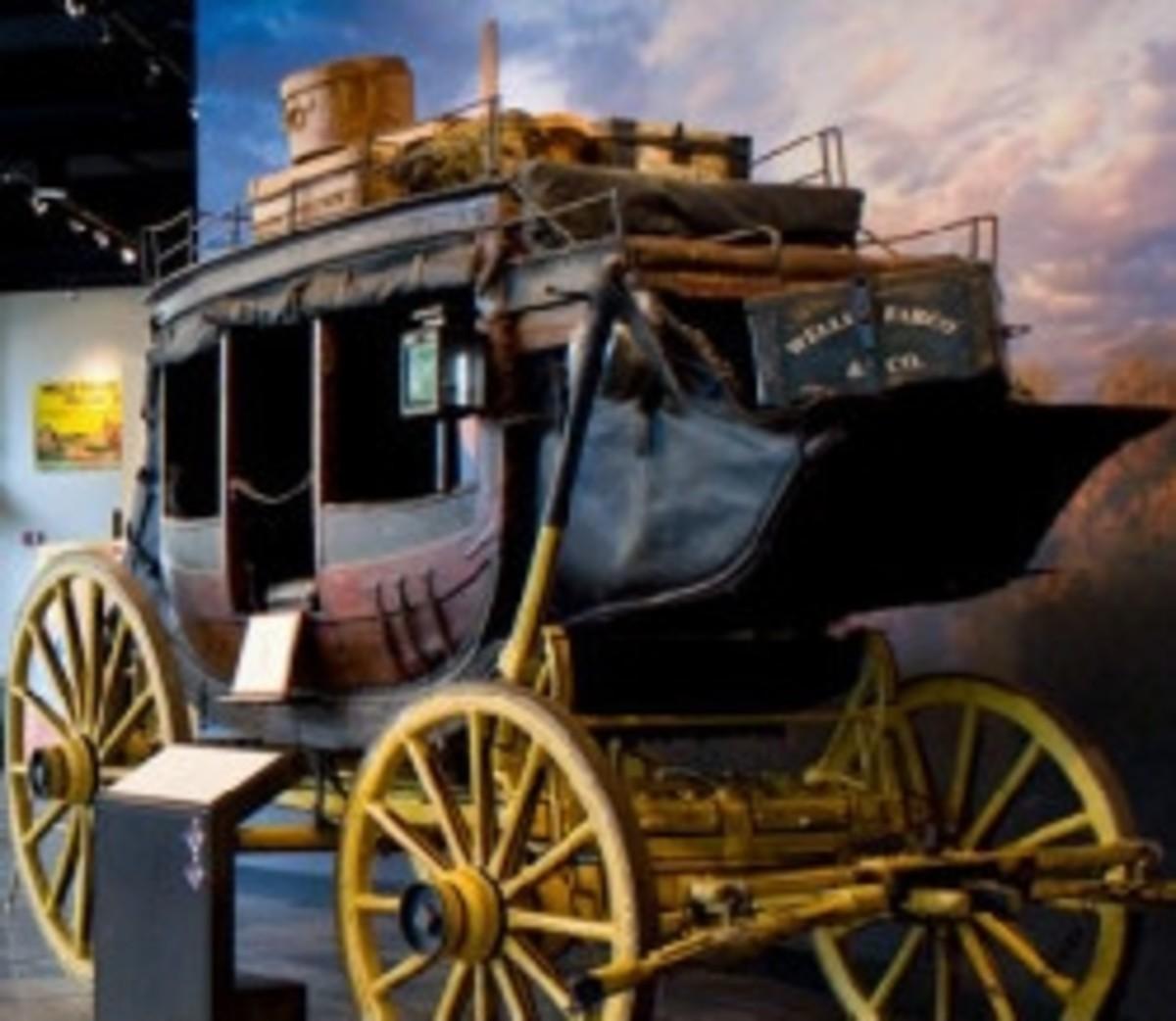 Stagecoach at the Wells Fargo Museum in Phoenix, AZ.