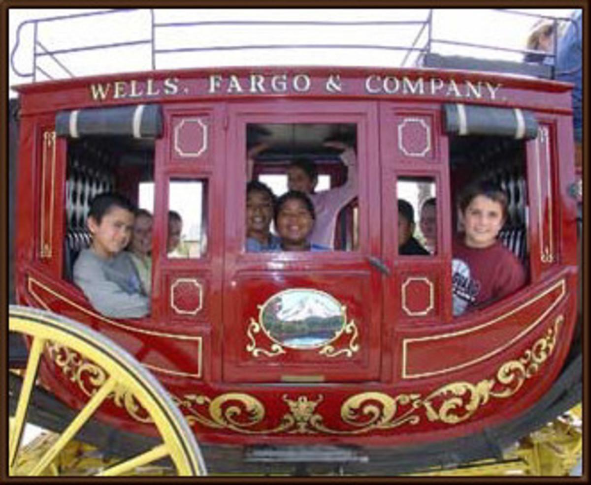 Children today can STILL ride a Wells Fargo stagecoach!