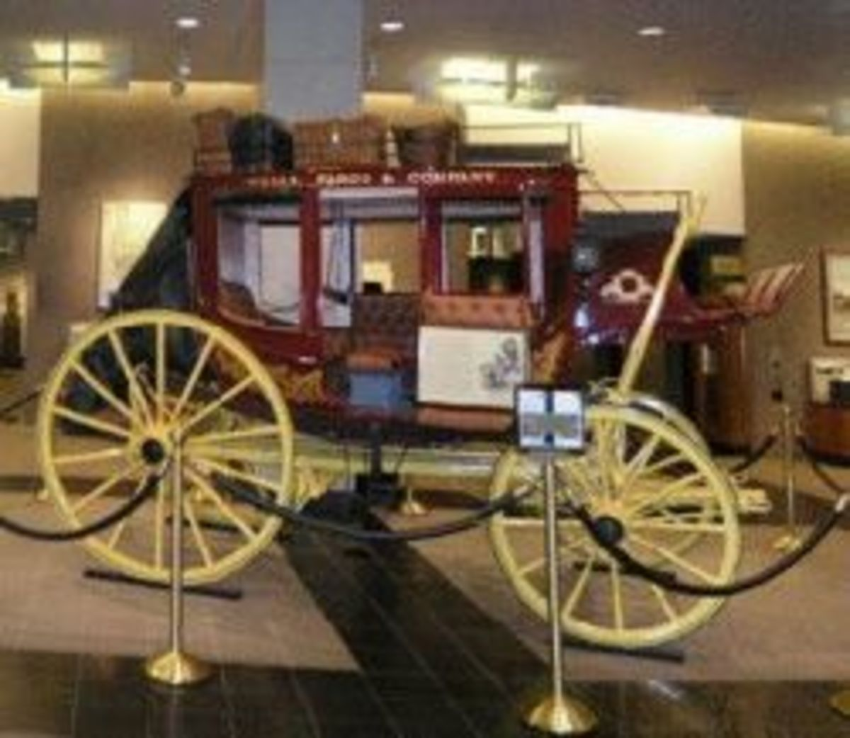Historical beauty here, from the Portland, OR Wells Fargo Museum