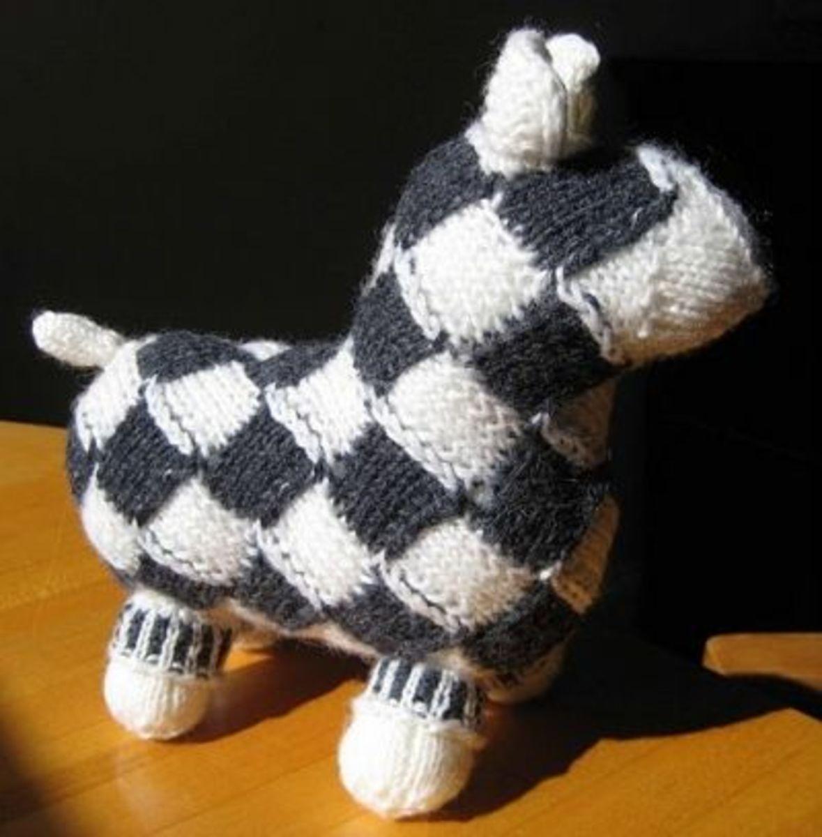 Entrelac Sheep from Norwegian Handknits