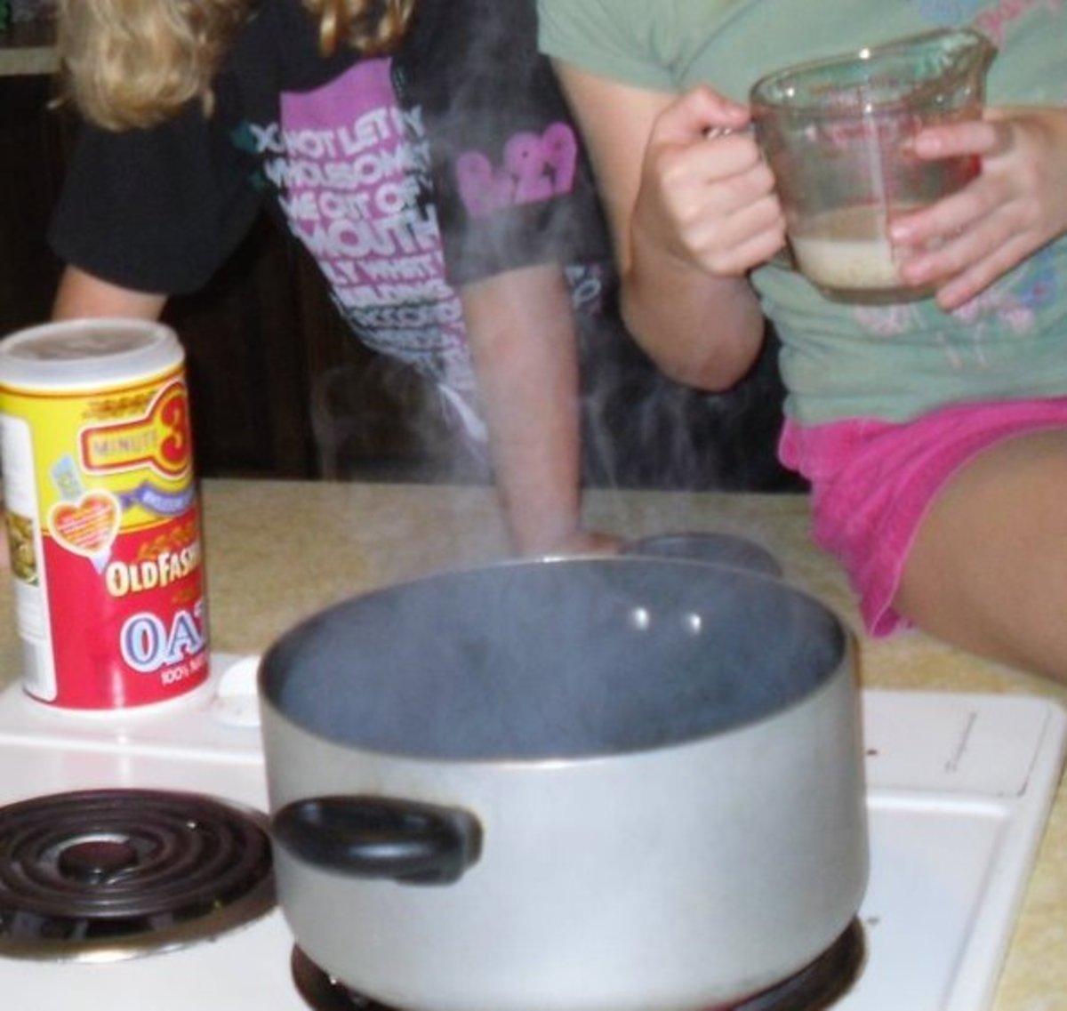 Cooking gruel