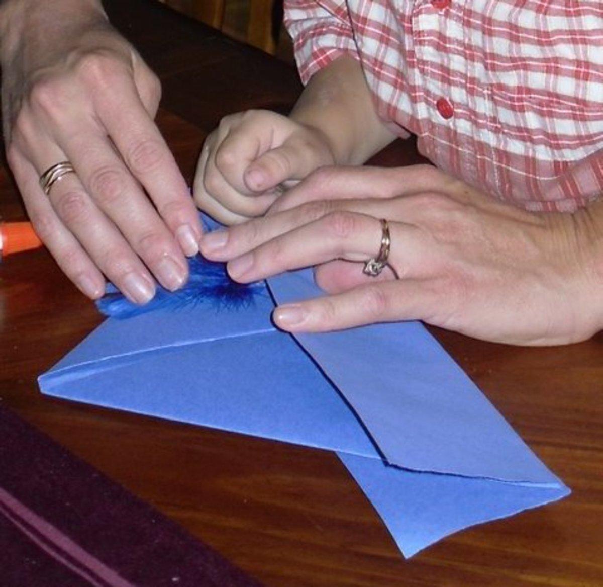 Folding the cavalier hat