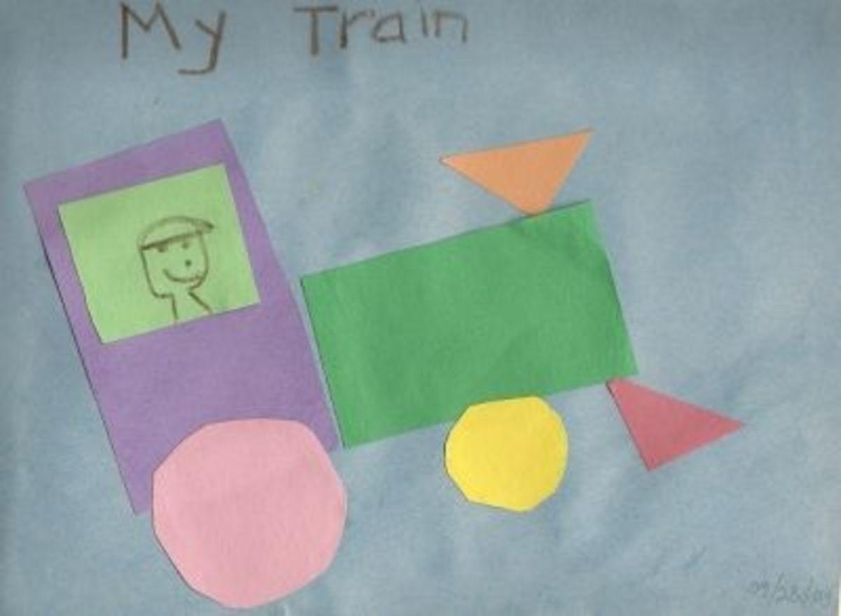 My Kid's Simple Paper Train Craft