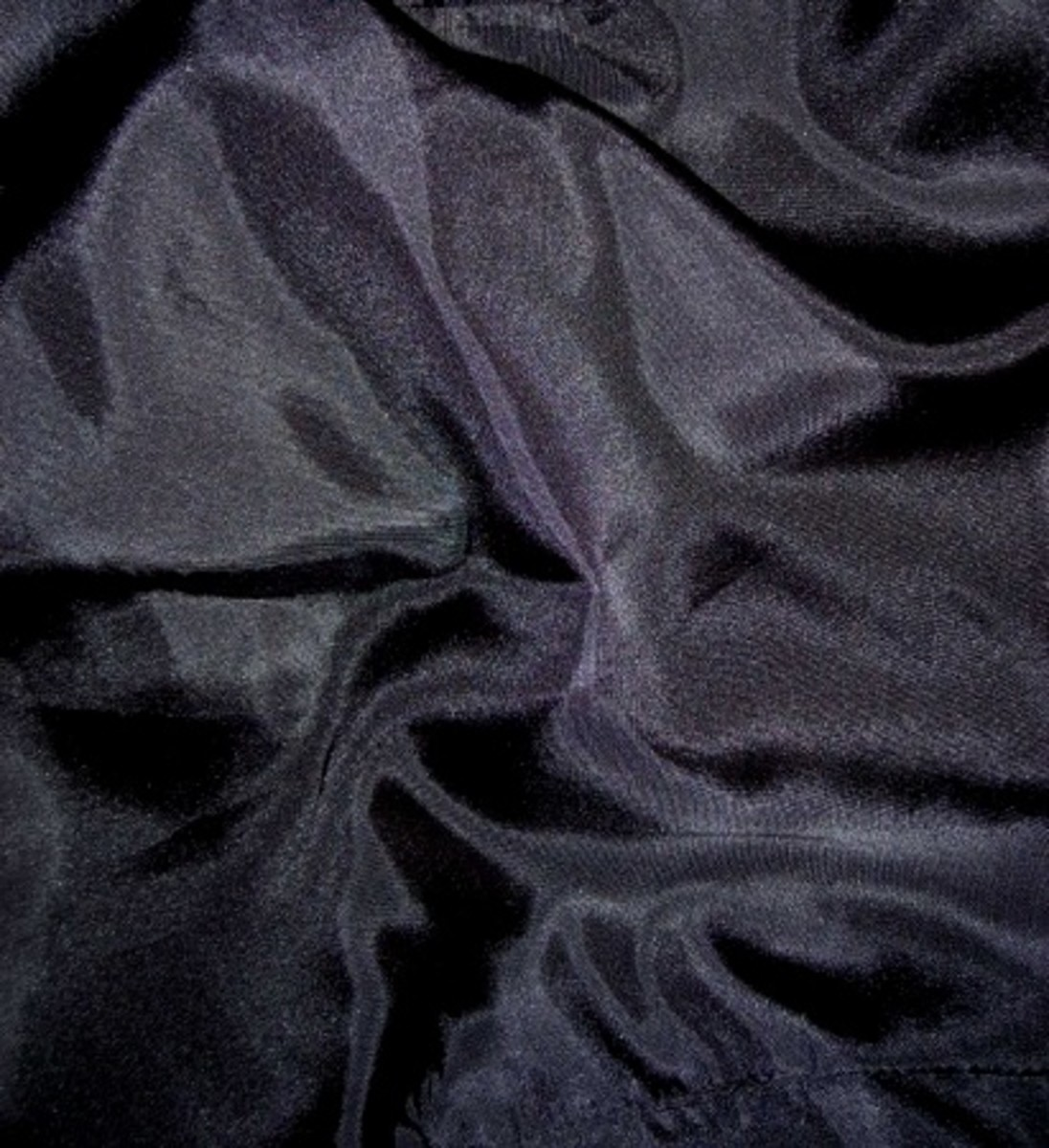 Black satin fabric
