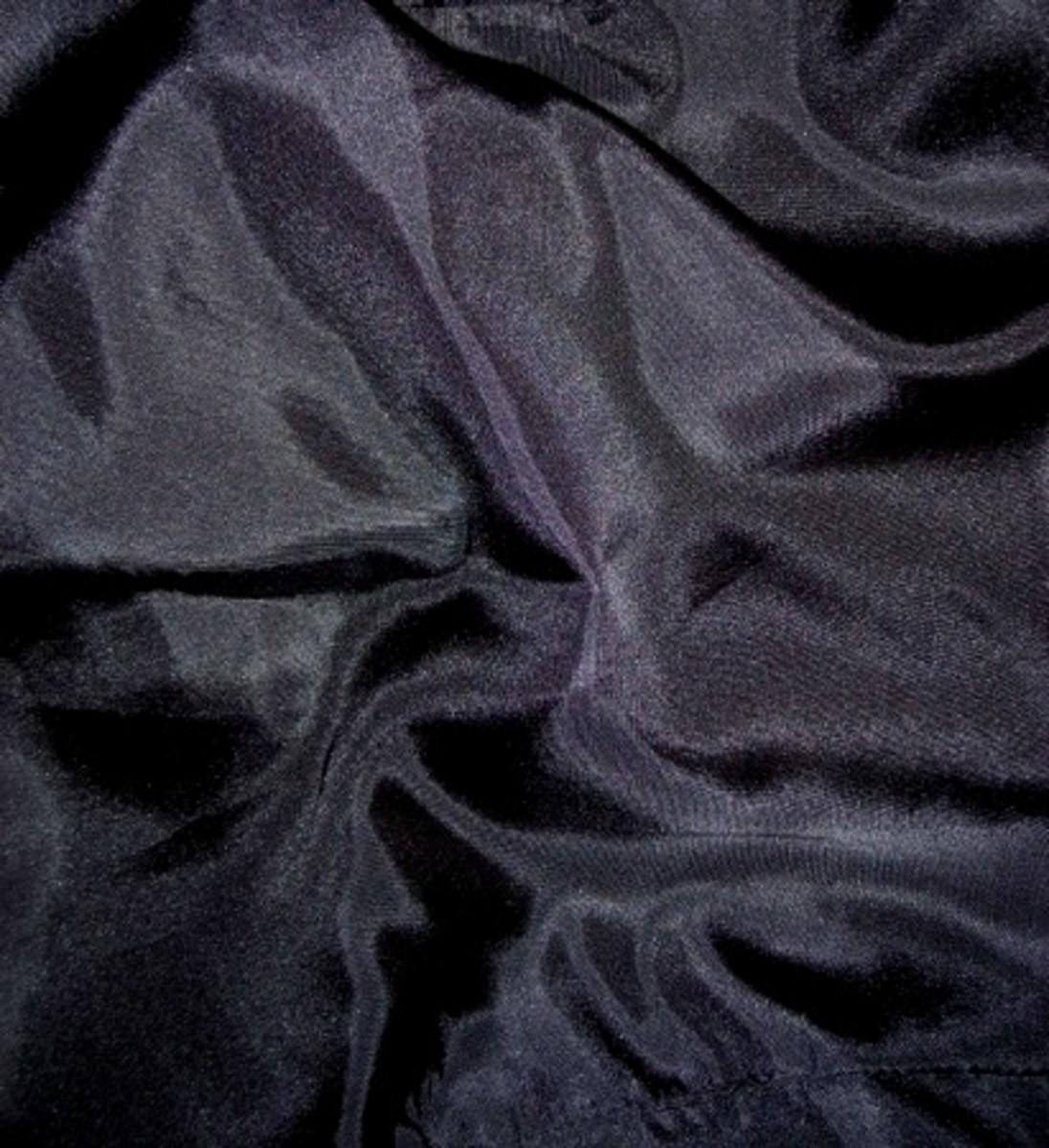 Black satin fabric