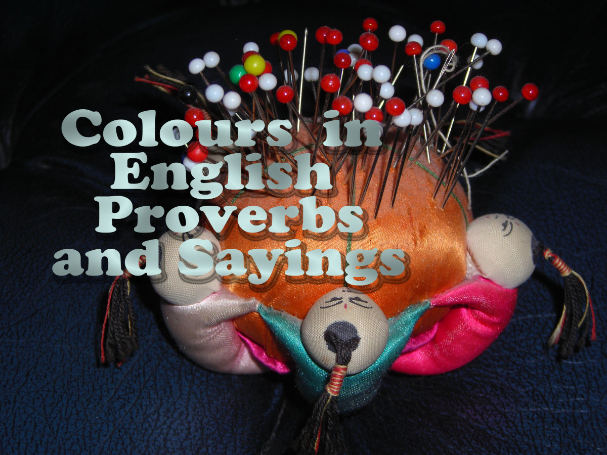 Colors in English Proverbs and Sayings