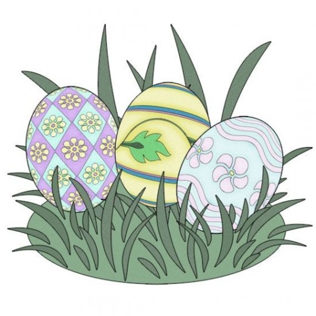 Free Easter Clip Art Images - Crosses, Bunnies, Eggs, Baskets & More!