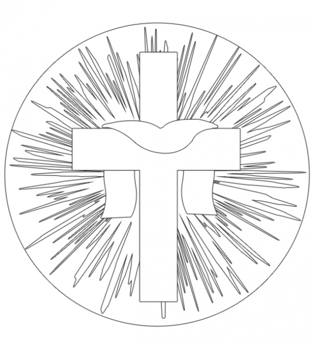 Easter Cross Printable Coloring Page