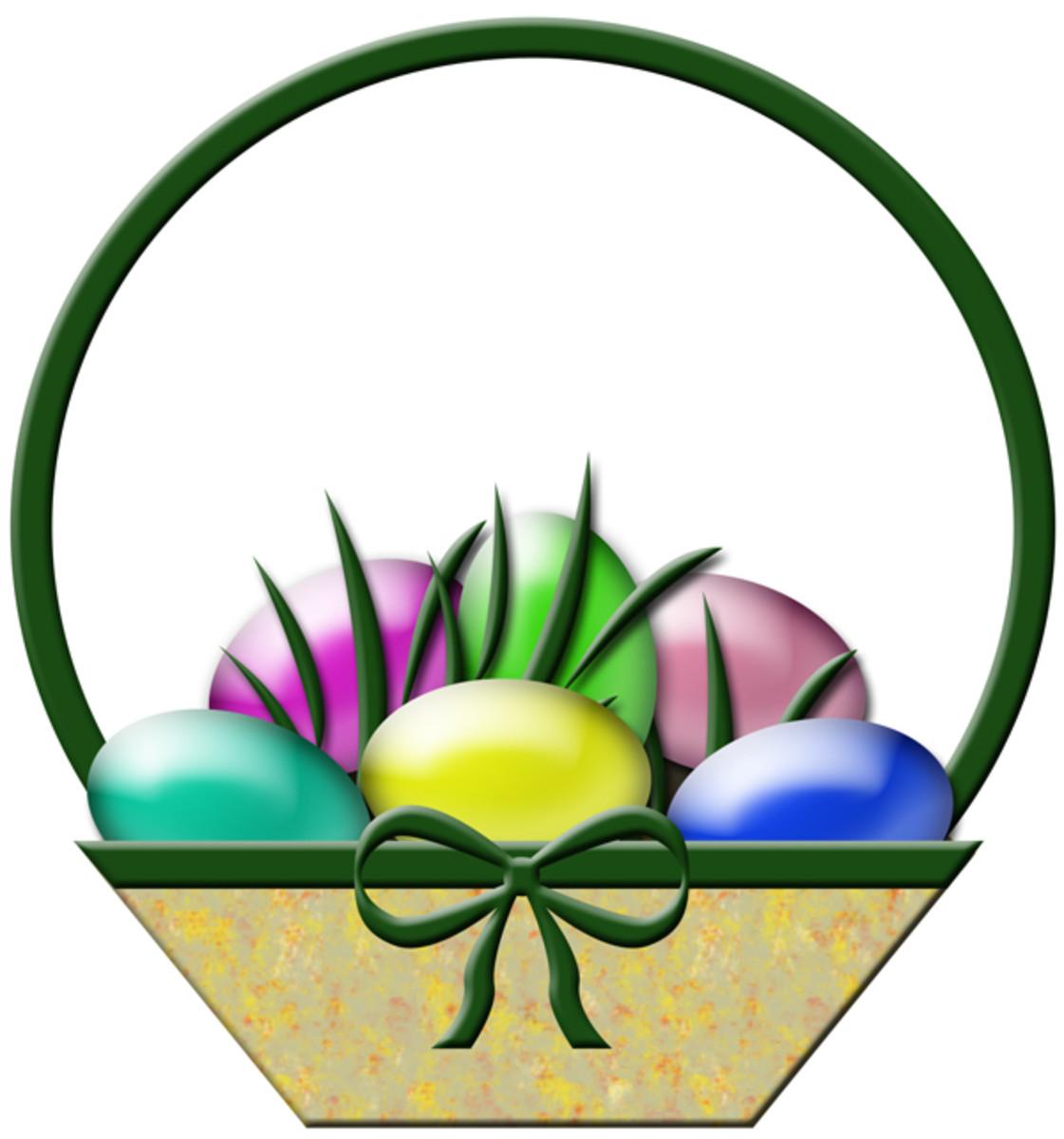 Free Easter Basket Clip Art