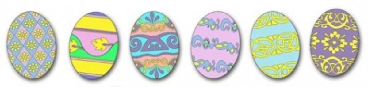 Easter Eggs Clipart Divider