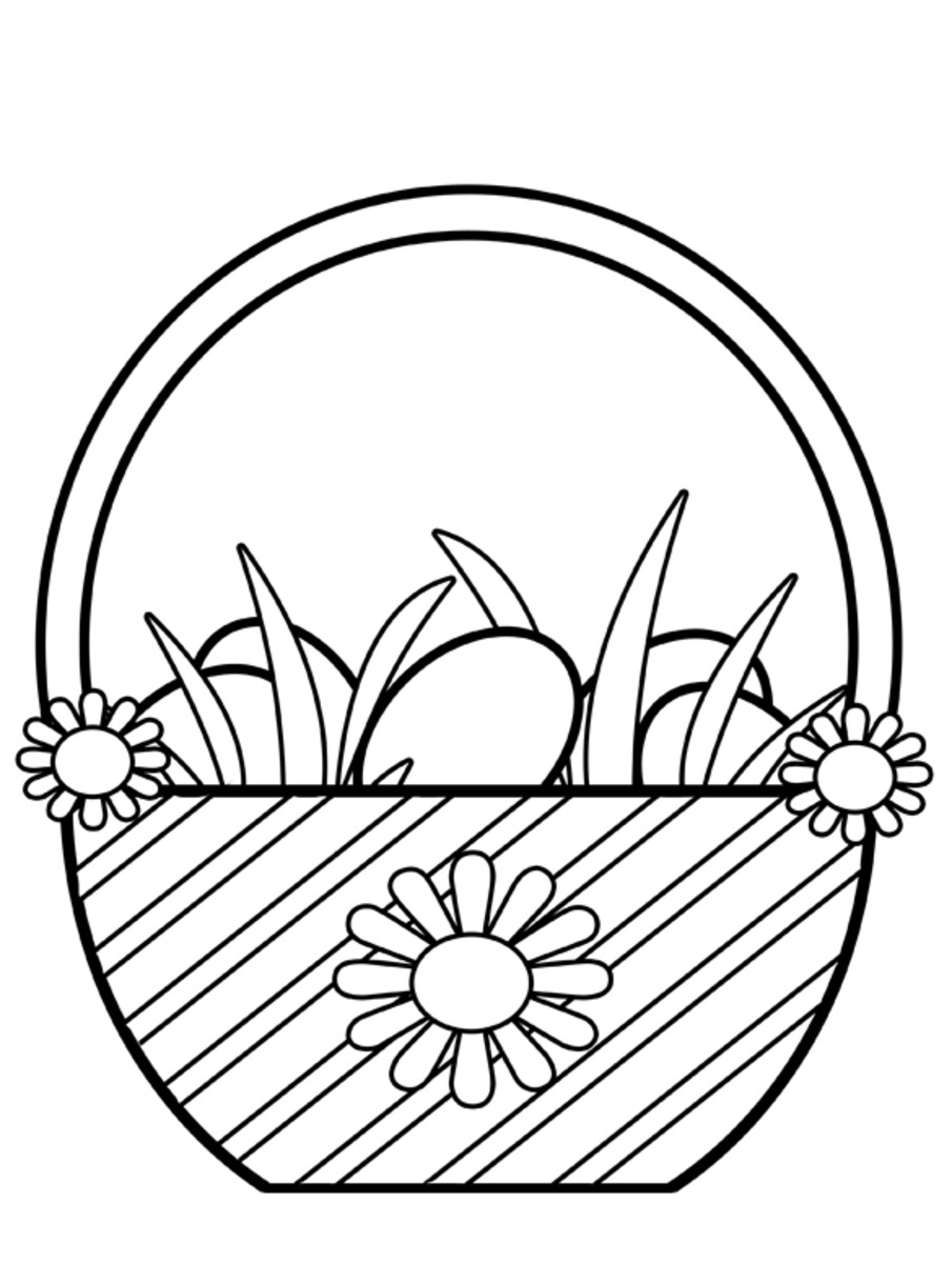 Easter Egg Hunt Basket Clipart
